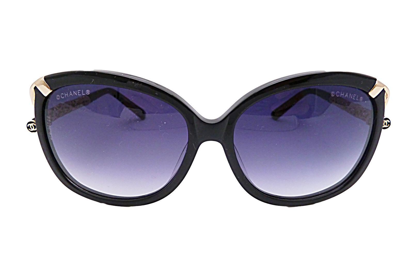 Gold Frame Chanel Sunglasses : Auth Chanel CC Logo Sunglasses Black Pink Gold Frame ...