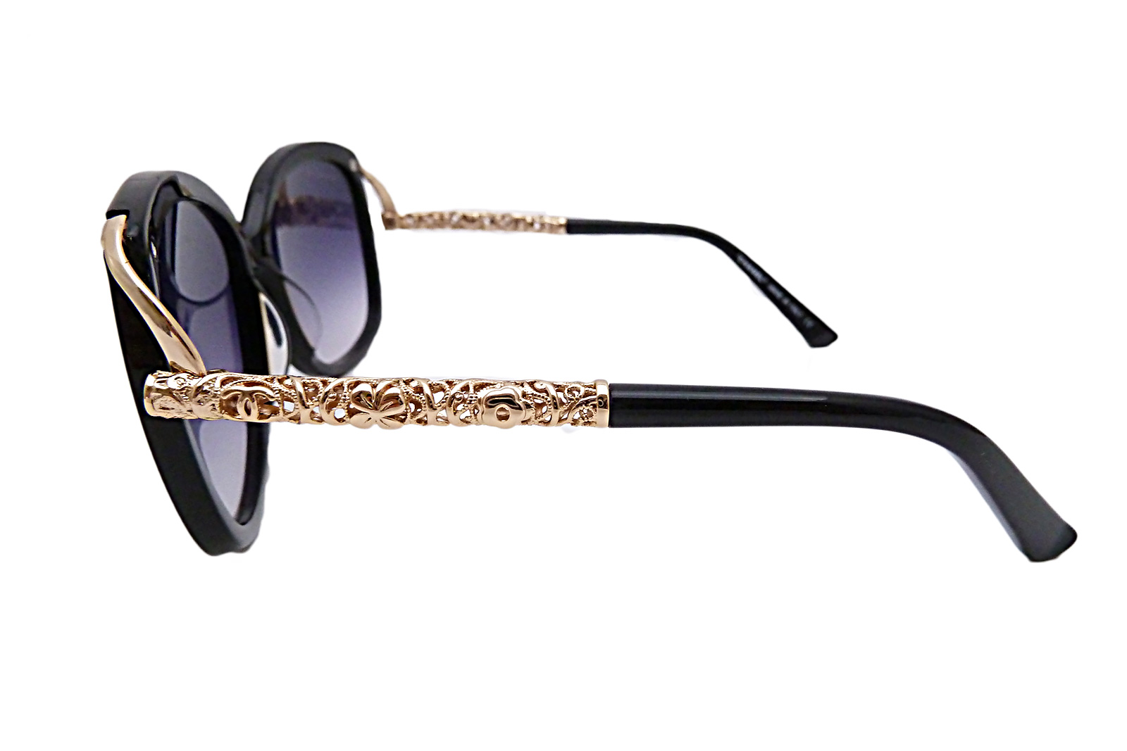 Gold Frame Chanel Sunglasses : Auth Chanel CC Logo Sunglasses Black Pink Gold Frame ...