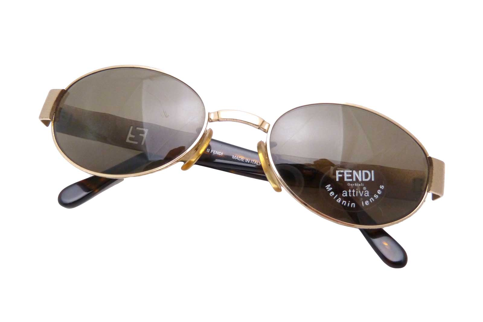 c5335bdb7c1 Auth FENDI Logos Brown Sunglasses Goldtone Worn-out  - e15562