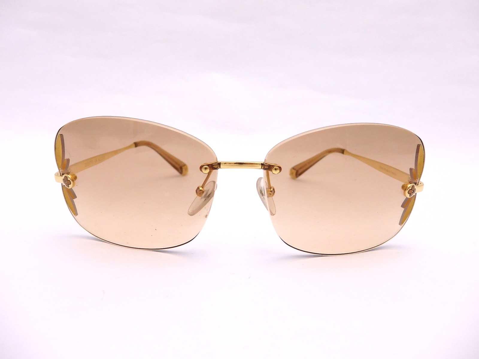 Frameless Glasses Spares : Auth Louis Vuitton Monogram Lily Frameless Sunglasses ...