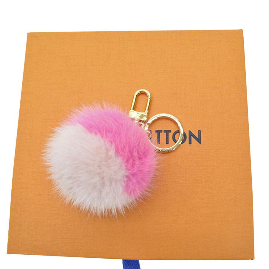 Auth-Louis-Vuitton-Fluo-Bubble-BB-Bag-Charm-Key-Ring-Pink-Gold-M78623-89795