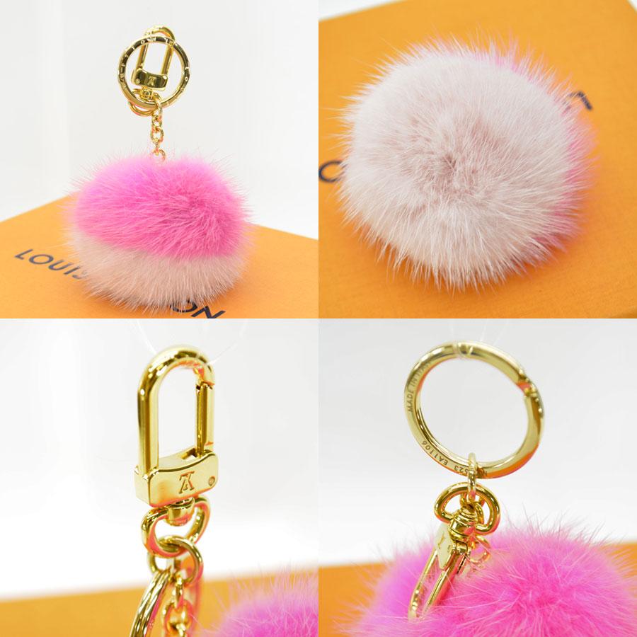 Auth-Louis-Vuitton-Fluo-Bubble-BB-Bag-Charm-Key-Ring-Pink-Gold-M78623-89795 thumbnail 2