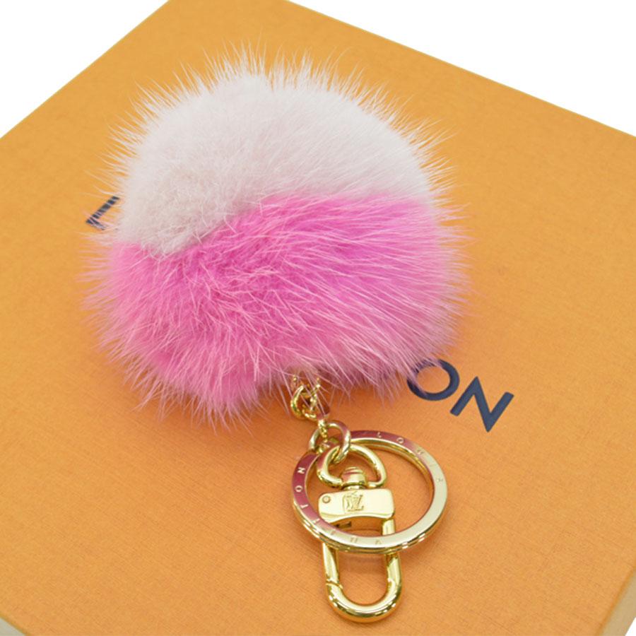 Auth-Louis-Vuitton-Fluo-Bubble-BB-Bag-Charm-Key-Ring-Pink-Gold-M78623-89795 thumbnail 3