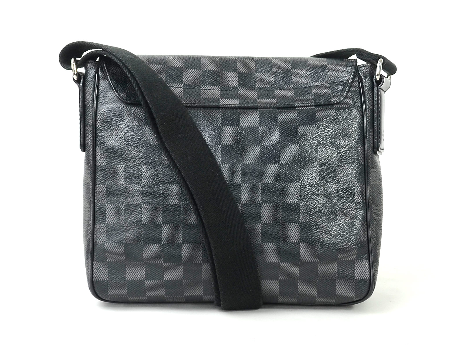 9b35e871b82a Auth Louis Vuitton Damier Graphite District PM Shoulder Bag N41260 ...