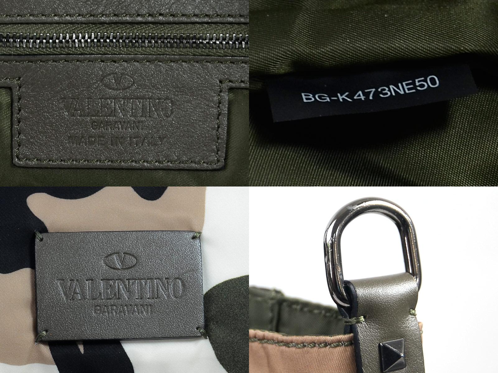 b52ccab4c72 Auth VALENTINO Camouflage 2-Way Tote Shoulder Bag Multicolor Nylon ...