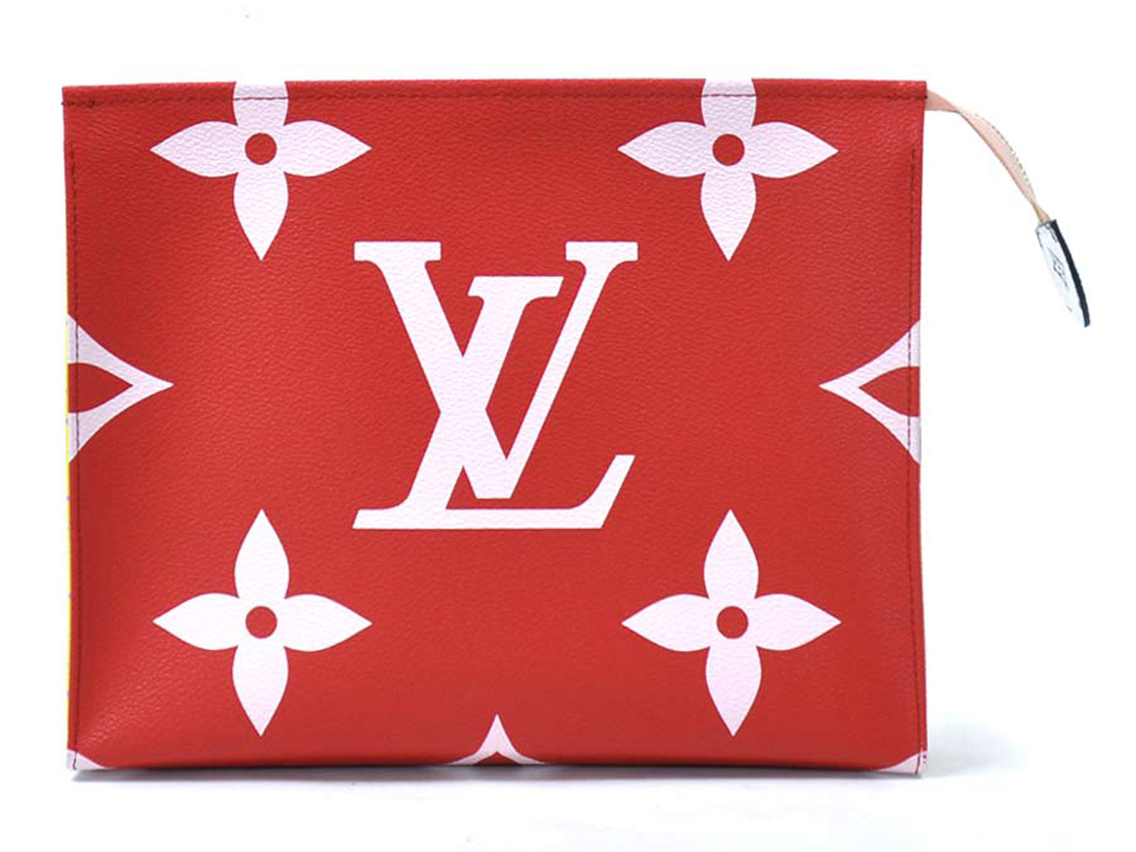 Auth-Louis-Vuitton-Monogram-Giant-Pochette-Toilette-Clutch-Bag-Rouge-Pink-96998 thumbnail 3