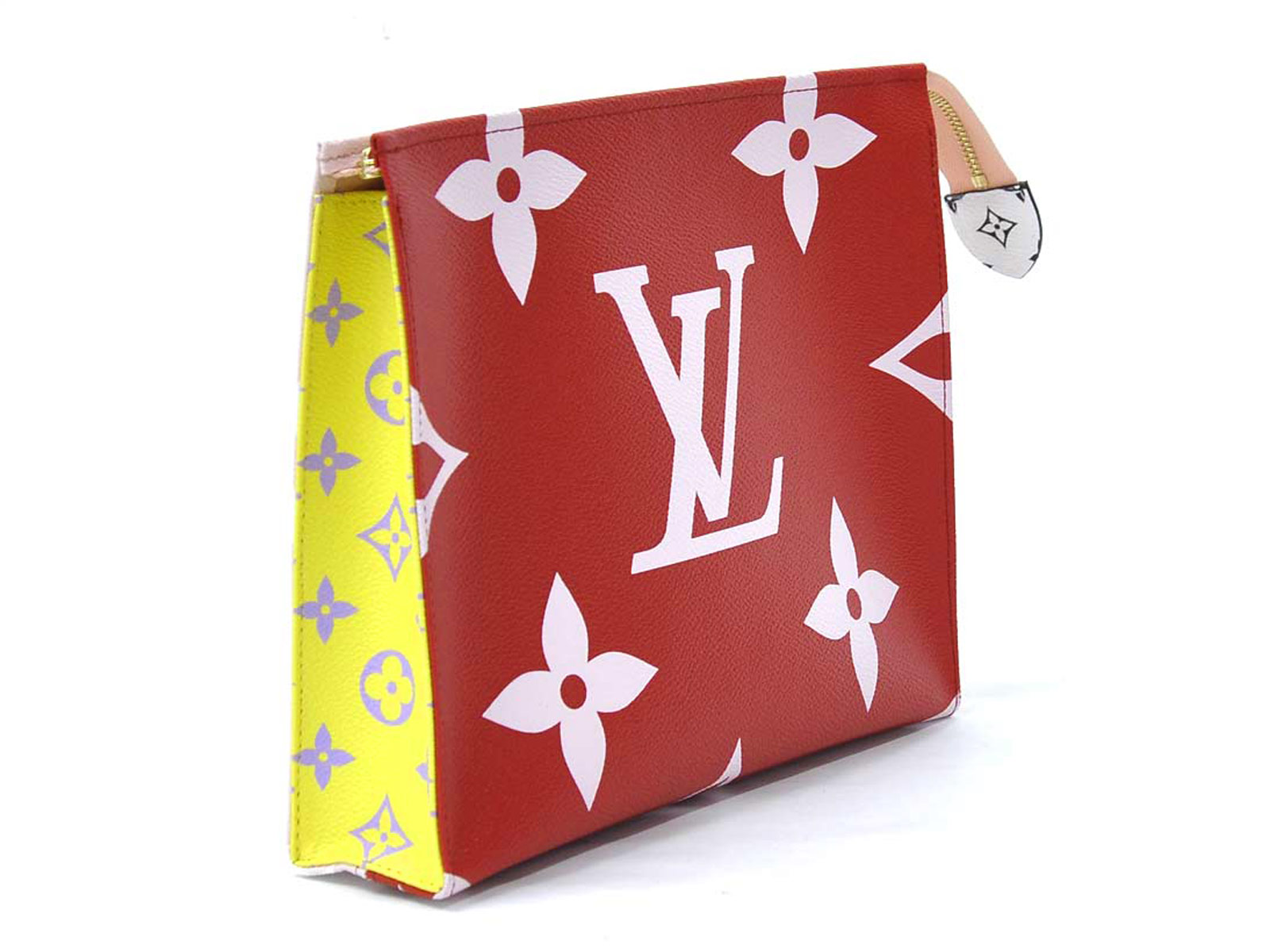 Auth-Louis-Vuitton-Monogram-Giant-Pochette-Toilette-Clutch-Bag-Rouge-Pink-96998 thumbnail 4