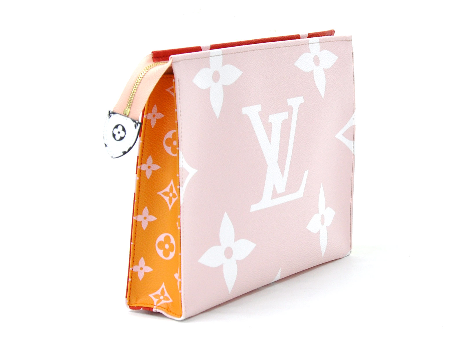 Auth-Louis-Vuitton-Monogram-Giant-Pochette-Toilette-Clutch-Bag-Rouge-Pink-96998 thumbnail 5