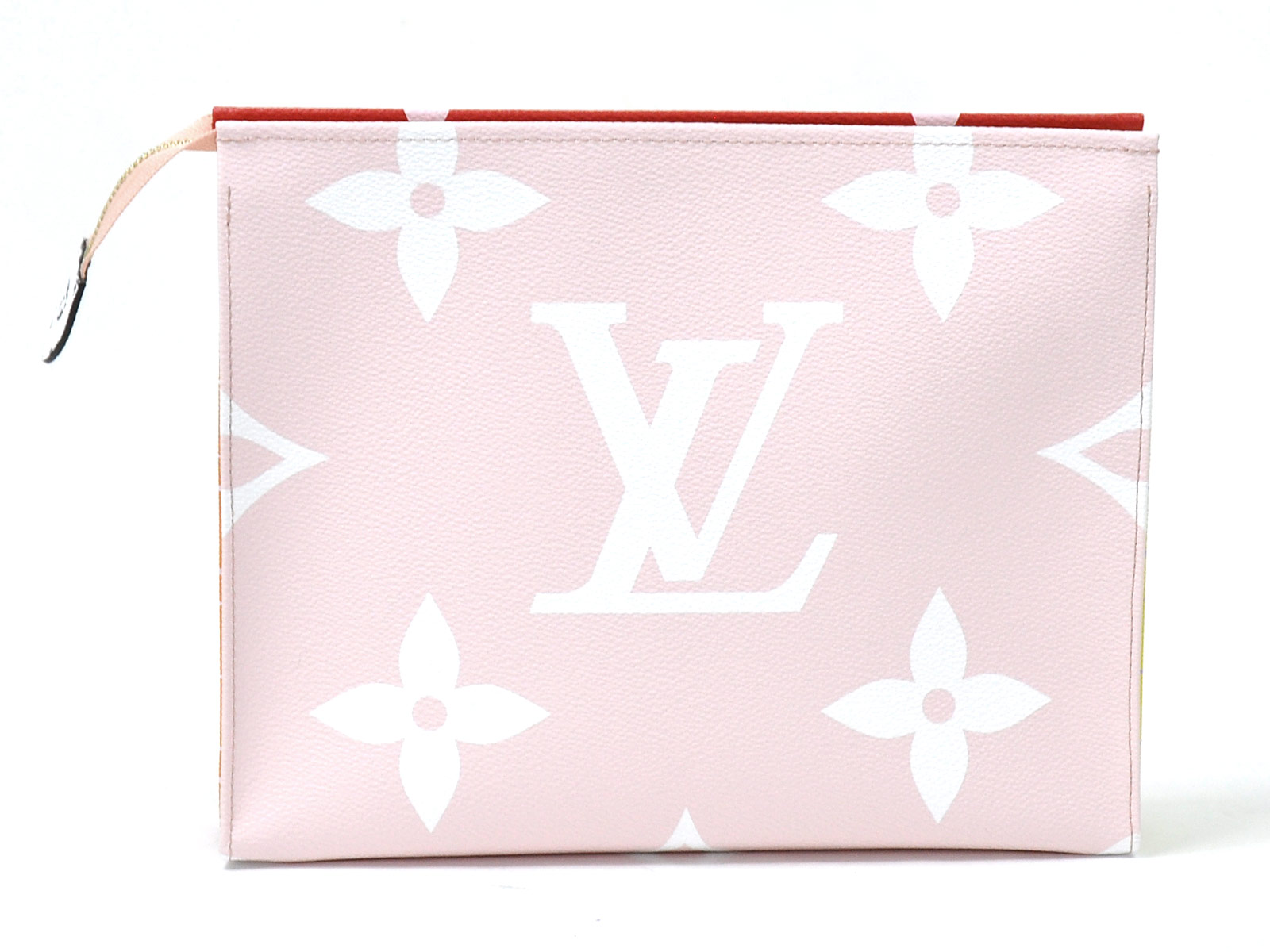 Auth-Louis-Vuitton-Monogram-Giant-Pochette-Toilette-Clutch-Bag-Rouge-Pink-96998 thumbnail 6