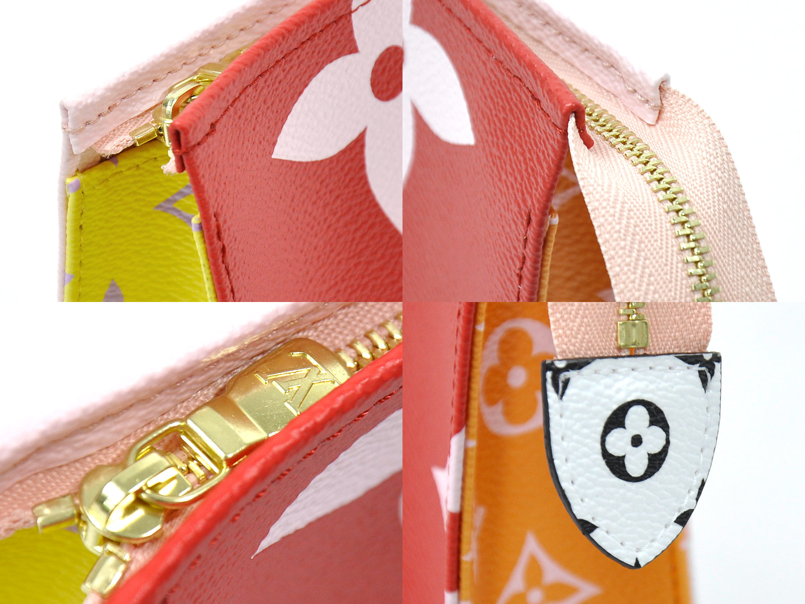 Auth-Louis-Vuitton-Monogram-Giant-Pochette-Toilette-Clutch-Bag-Rouge-Pink-96998 thumbnail 9