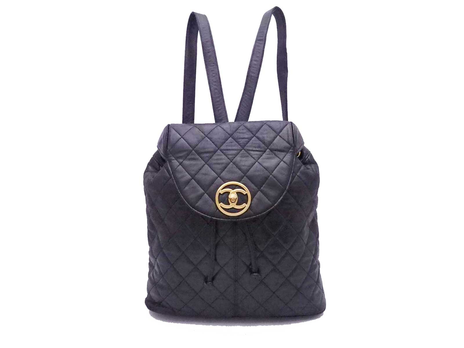 b0a423e25eb3 Details about  SALE from  2750 to  2475  CHANEL CC Logo Matelasse Backpack  Black Gold - e35291