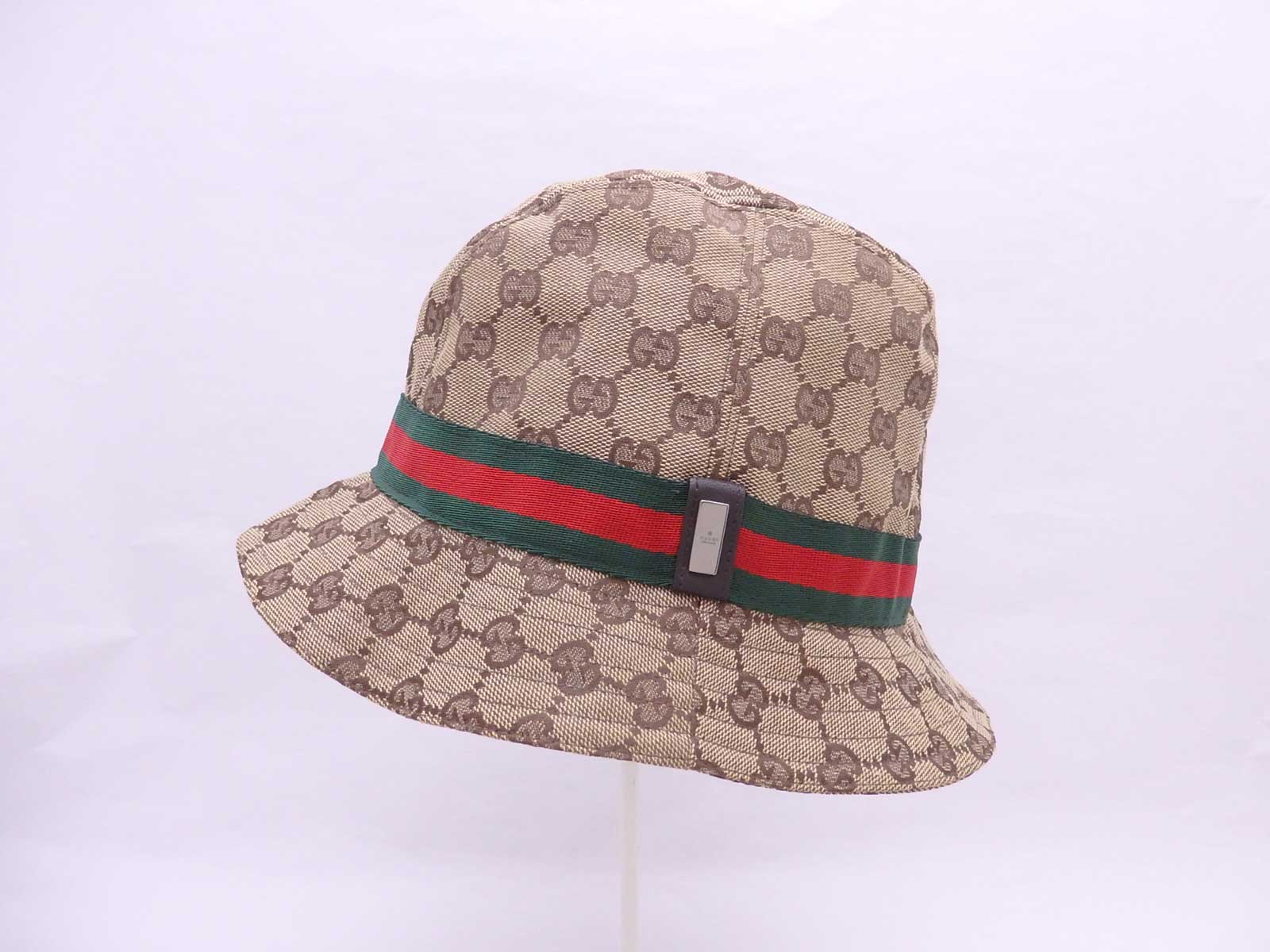 Details about Auth Gucci GG Canvas Fedora Hat  Stamped Size  L  Beige Brown  - e37526 91f5c86f02b6
