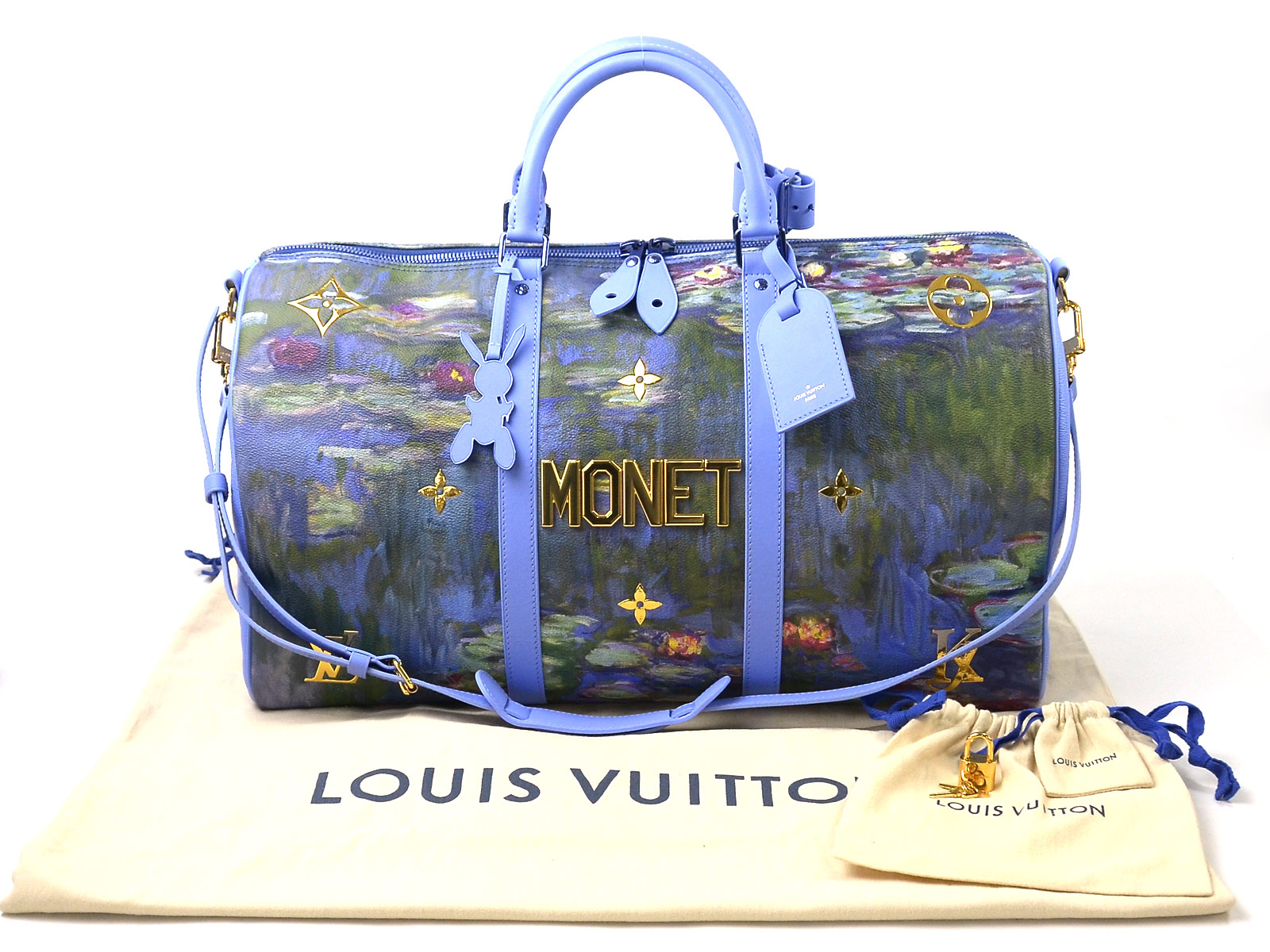 a1d0e6275ec0 Auth Louis Vuitton Master s Collection MONET Keepall Bandoulier 50 UNUSED  e38300. Item Photos