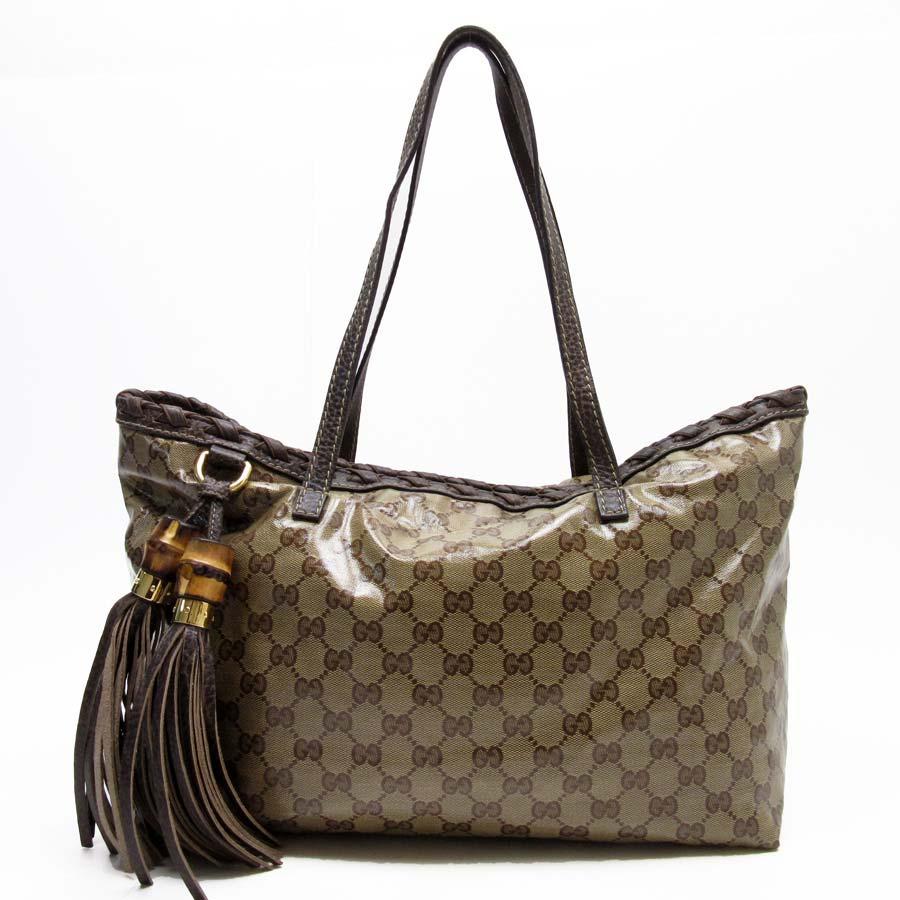 1b443ad5a2a5e Autoriz. Gucci Gg Cristal pendão de Bambu bolsa tote bolsa de ombro ...