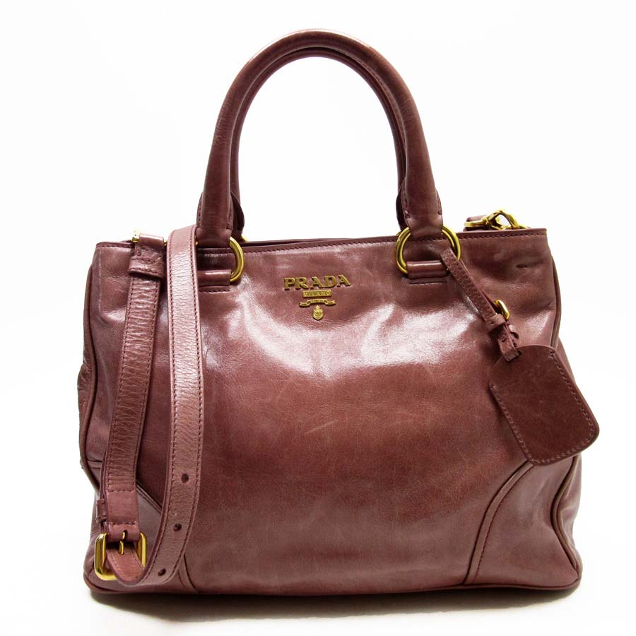Image Is Loading Auth Prada Vitello Shine 2 Way Handbag Shoulder
