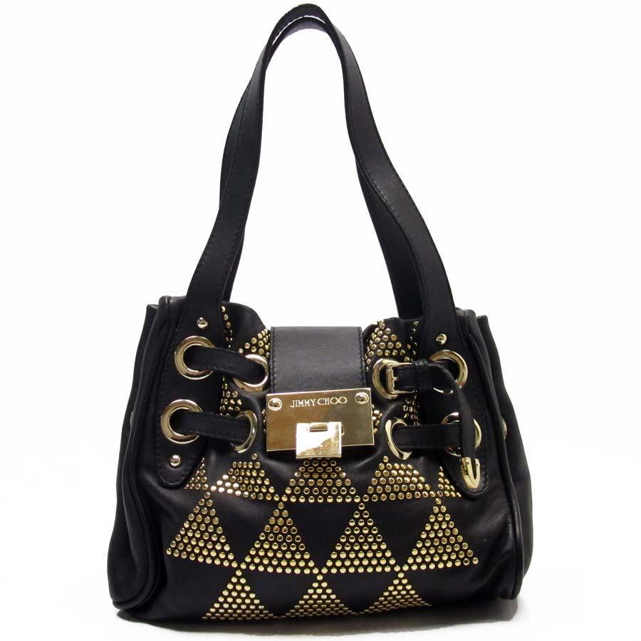 Image Is Loading Auth Jimmy Choo Pyramid Gold Studded Ramona Bag
