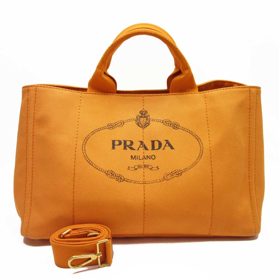 3528b656ebd4 ... leather orange reebonz united states 3fdef 0727b; denmark image is  loading auth prada canapa 2 way handbag shoulder bag dfc50 e1aea