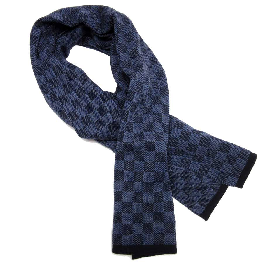 a1bf9337b39 Auth Louis Vuitton Damier Graphite Echarpe Petit Muffler Scarf M70267 -  h18508 3 3 of 12 See More