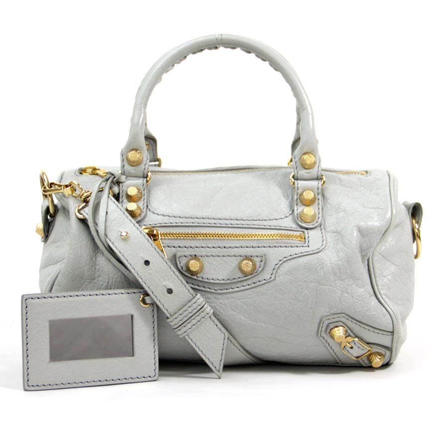 81a3ead596 Auth BALENCIAGA Giant Mini Twiggy 2-Way Handbag Shoulder Bag Light ...