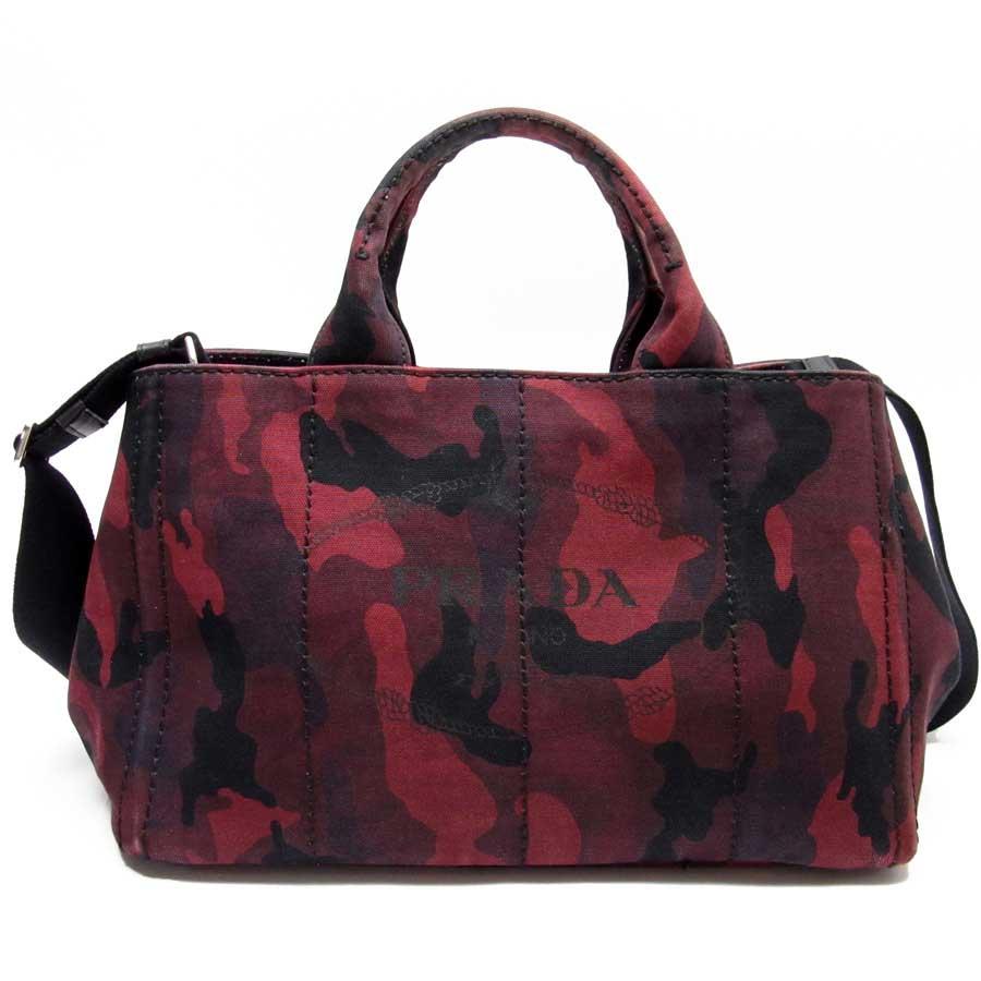 Image is loading Auth-PRADA-CANAPA-CAMOUFLA-2-Way-Handbag-Shoulder- 5fe41e8790dc1