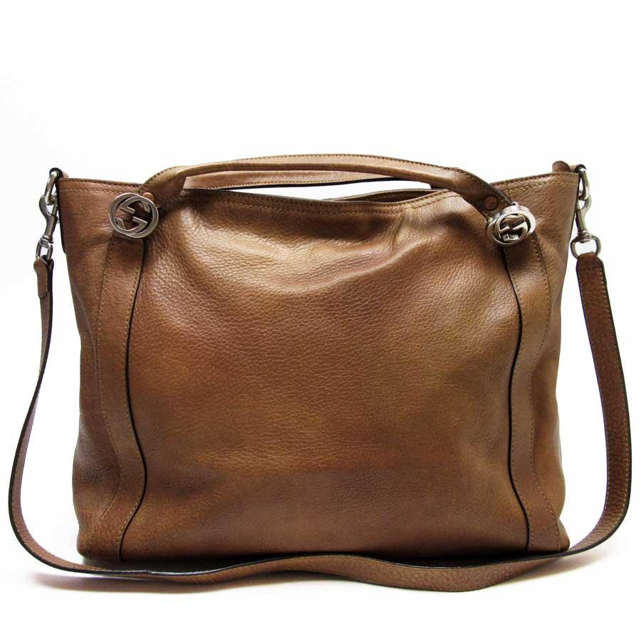 0ccb5c5046 Auth GUCCI MISS GG Tote Bag 2-Way Handbag Shoulder Bag Brown 323675 ...
