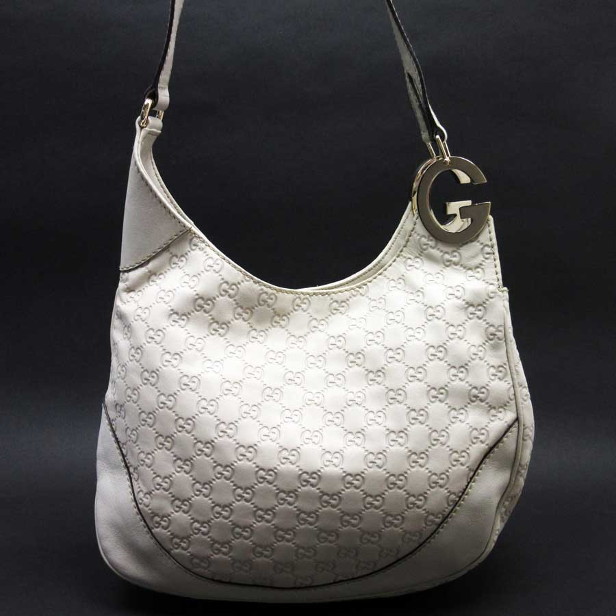 251301b2fe3d Image is loading Auth-GUCCI-Guccissima-Charlotte-Shoulder-Bag-Off-White-