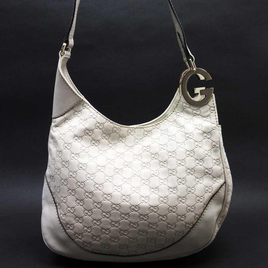 b46b1e9eff Image is loading Auth-GUCCI-Guccissima-Charlotte-Shoulder-Bag-Off-White-