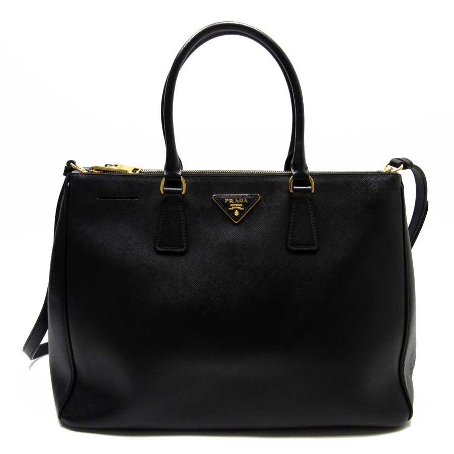 f0640cb71383da Auth PRADA SAFFIANO LUX 2-Way Handbag Shoulder Bag NERO (Black ...