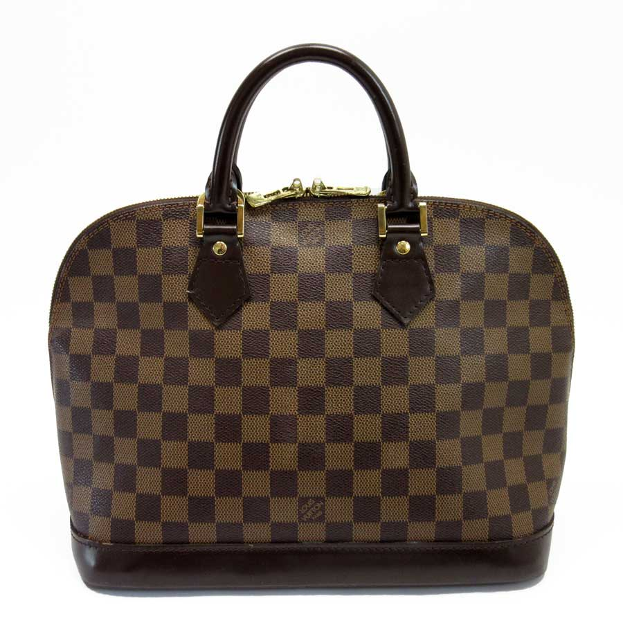 01e5ba1971b6 Auth Louis Vuitton Damier Ebene Alma Handbag Brown N51131 - h21088 ...