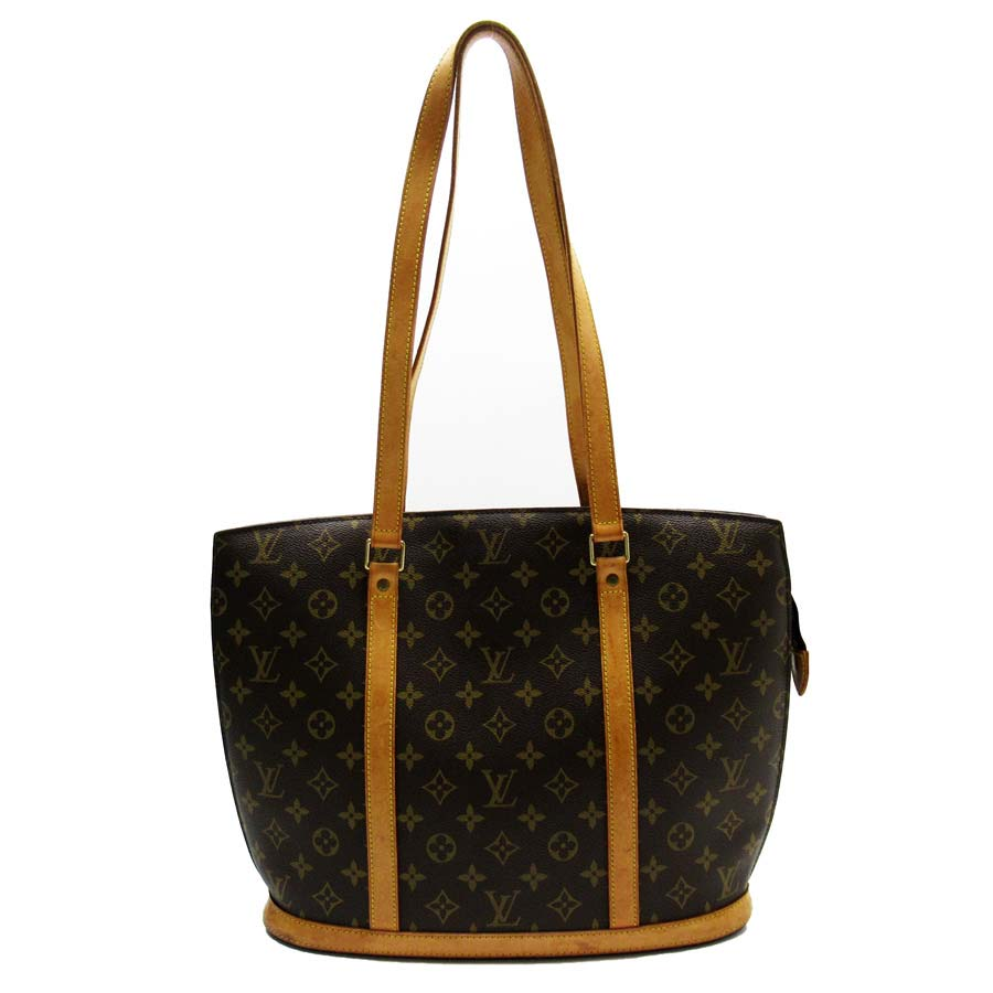 Auth-Louis-Vuitton-Monogram-Babylone-Shoulder-Bag-Brown-M51102-h25129a