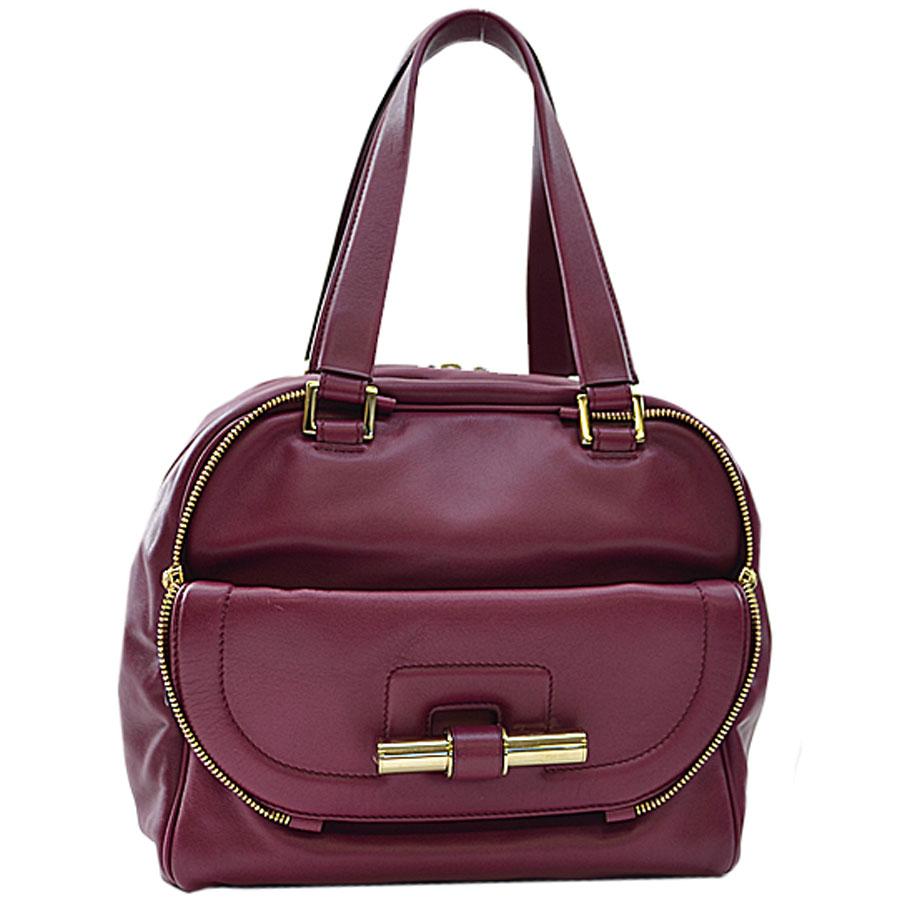Image Is Loading Auth Jimmy Choo Justin Handbag Purple Leather Goldtone