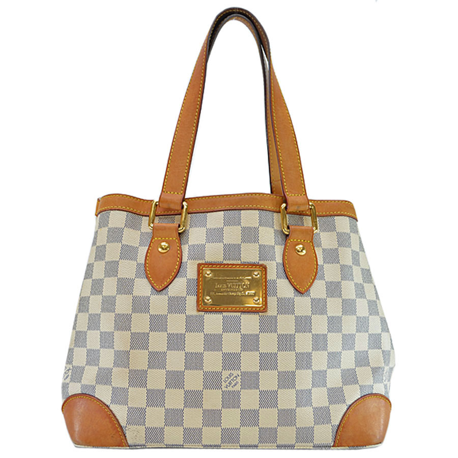 6191da8dffa0 Image is loading Auth-Louis-Vuitton-Damier-Azur-Hampstead-PM-Shoulder-