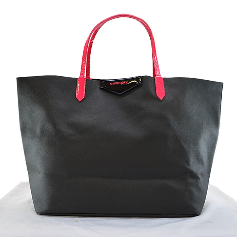 adedfaeca4 Image is loading Auth-GIVENCHY-Antigona-Shopper-tote-Handbag-Black-Pink-