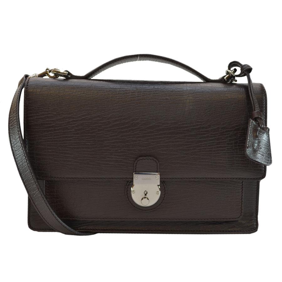 7e223a2a1b Auth GUCCI 2-Way Handbag Shoulder Bag Brown Leather 181083 - r6547 ...