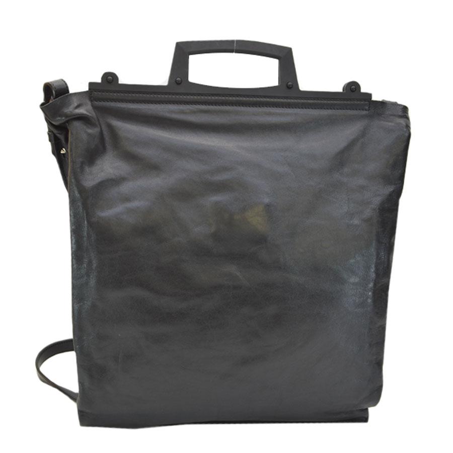 thumbnail 3 - Auth-GIVENCHY-Star-Embossed-Leather-Tote-Handbag-Shoulder-Bag-Black-r7112