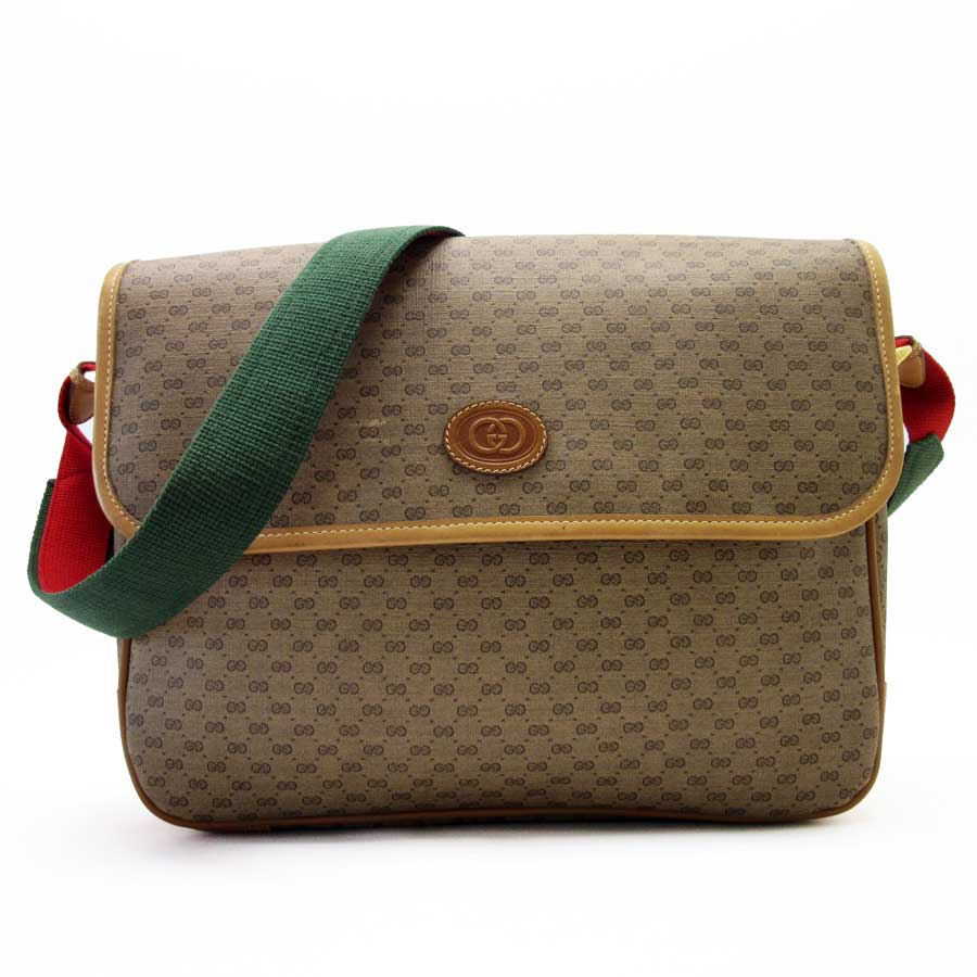 055e1a7734788a Auth GUCCI GG Plus Vintage Clutch Bag Brown PVC/Leather - h20880 | eBay