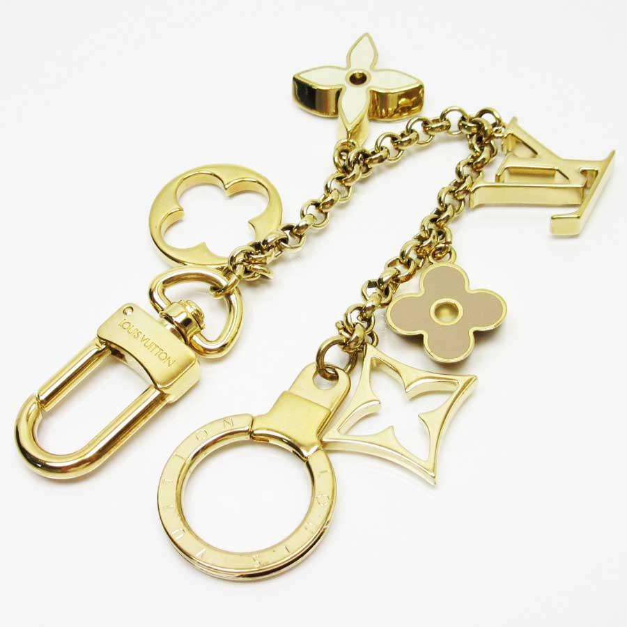 Auth-Louis-Vuitton-Fleur-de-Monogram-Bag-Charm-Goldtone-Enamel-M65111-x2475 thumbnail 3