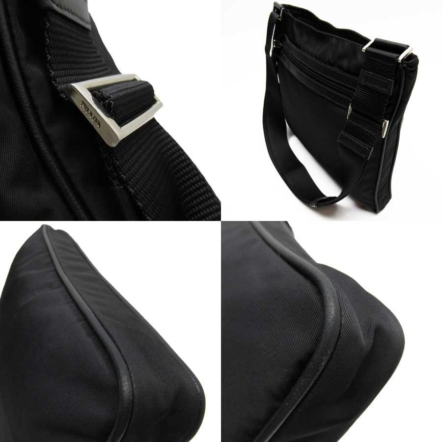 Bolso con Bandolera Prada Hombre Nylon Negro y Plata
