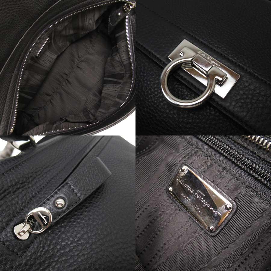 thumbnail 3 - Auth Salvatore Ferragamo Sofia Gancini 2-Way Handbag Shoulder Bag Black - x3336